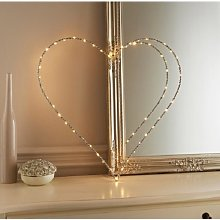 Other Light Up Glitz Wire Heart Sign