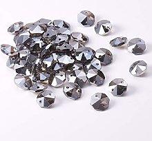 Othmro 50Pcs Crystal Glass Beads Dark Gray