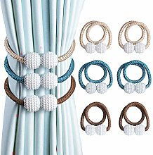 OTHWAY Curtain Tiebacks, 2 Pieces Beige and 2