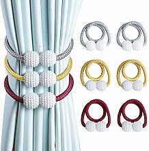OTHWAY Curtain Tiebacks, 2 Pieces Gery and 2