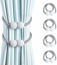 OTHWAY Curtain Tiebacks, 4 Pieces Magnetic Curtain