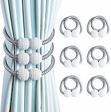 OTHWAY Curtain Tiebacks, 6 Pieces Magnetic Curtain