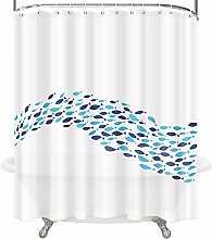 OTHWAY Shower Curtain with Hooks, Waterproof