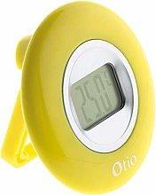 OTIO 936227 Indoor Thermometer, Yellow