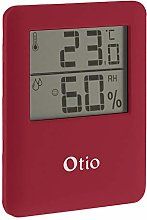 OTIO 936231 Thermometer/Hygrometer, Red
