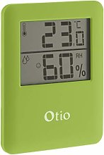 Otio Magnetic Indoor Thermometer/Hygrometer Green