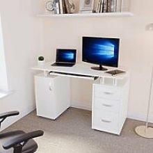 Otley 3 Drawer Computer Desk, White