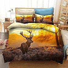 OTNYHBJ Duvet Cover Pillowcases Beige yellow brown
