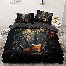 OTNYHBJ Duvet Cover Pillowcases Black brown white