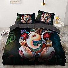 OTNYHBJ Duvet Cover Pillowcases Black gray red