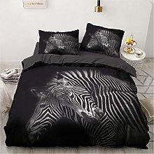 OTNYHBJ Duvet Cover Pillowcases Black white animal