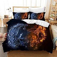 OTNYHBJ Duvet Cover Pillowcases Black white red