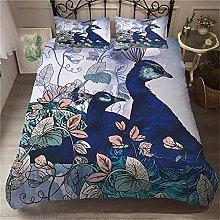 OTNYHBJ Duvet Cover Pillowcases Blue green white