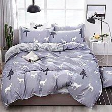 OTNYHBJ Duvet Cover Pillowcases Gray white black
