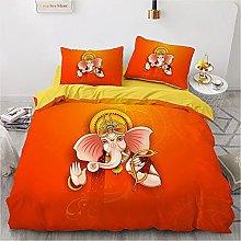 OTNYHBJ Duvet Cover Pillowcases Orange yellow