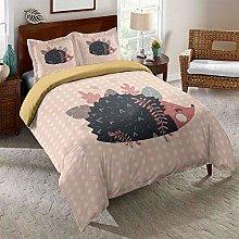 OTNYHBJ Duvet Cover Pillowcases Pink black red