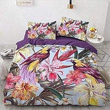 OTNYHBJ Duvet Cover Pillowcases Purple blue pink