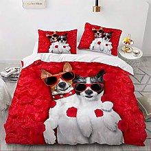 OTNYHBJ Duvet Cover Pillowcases Red white black