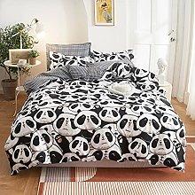 OTNYHBJ Duvet Cover Pillowcases White black red