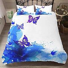 OTNYHBJ Duvet Cover Pillowcases White blue animal