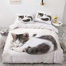 OTNYHBJ Duvet Cover Pillowcases White gray animal