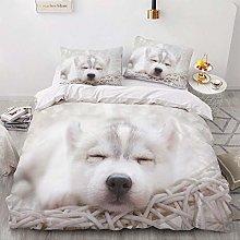 OTNYHBJ Duvet Cover Pillowcases White gray black