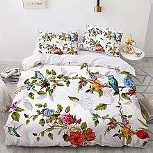 OTNYHBJ Duvet Cover Pillowcases White green blue
