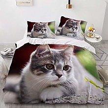 OTNYHBJ Duvet Cover Pillowcases White green gray