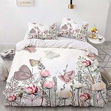 OTNYHBJ Duvet Cover Pillowcases White pink pink