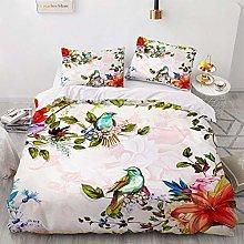 OTNYHBJ Duvet Cover Pillowcases White pink red