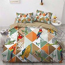 OTNYHBJ Duvet Cover Pillowcases White red green
