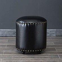Ottoman Round Upholstered Footstool Ottoman