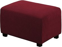 Ottoman Slipcovers Rectangle Red wine Footrest