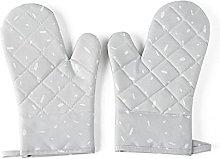 OUBALA Glove Household Non-slip Cotton BBQ Oven