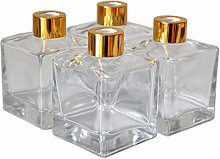 Ougual Set of 4 Square Glass Essential Oils
