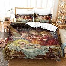 OUHGPP Duvet Cover Quilt Bedding Set Cute Little