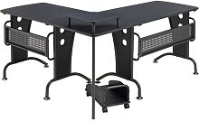 Ouida L-Shape Computer Desk Mercury Row Colour: