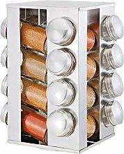 OUKANING 16 Pcs Jars Spice Rack Spice Jar Spice