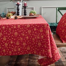 Oukeep Christmas Green Bronzing Tablecloth Wind