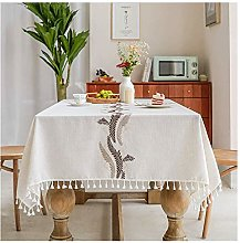 Oukeep Cotton And Linen Embroidered Letter Table