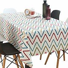 Oukeep Cotton Linen Waterproof Tablecloth