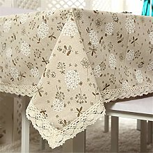 Oukeep Cotton Linen Waterproof Tablecloth Literary