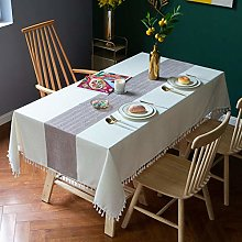 Oukeep Nordic Tassel Decoration Tablecloth Cotton