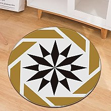 Oukeep Retro Printed Circular Carpet Is Suitable