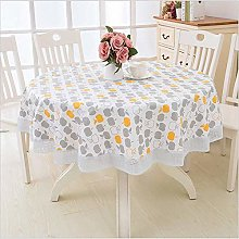 Oukeep Round Pvc Tablecloth Waterproof And