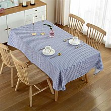 Oukeep Simple Checkered Tablecloth Waterproof And