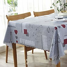 Oukeep Simple Pastoral Style Leaf Tablecloth,