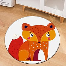 Oukeep Small Animal Pattern Round Carpet Home