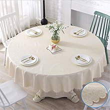 Oukeep Thickened PVC Round Tablecloth Waterproof,