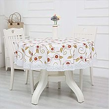 Oukeep Thickened Round Tablecloth Pvc Waterproof